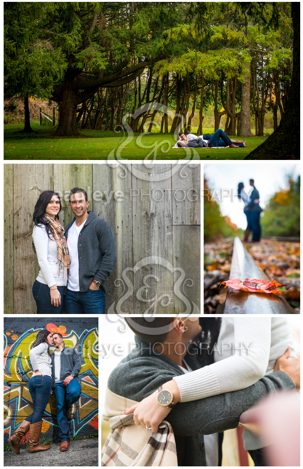 Fall is in the air with Shanel and Patrick's engagement shoot photos.